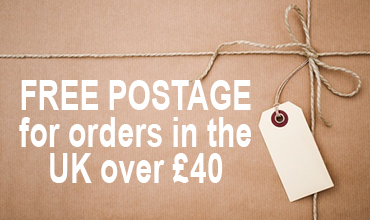 Free postage over £40 in UK