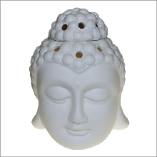 Buddah Head Oil Burner White