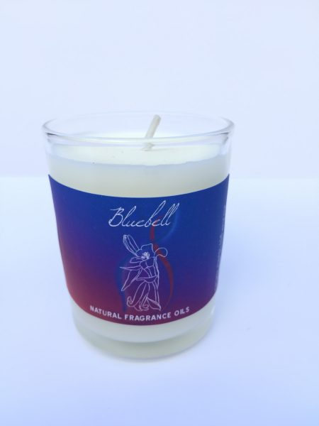 Bluebell- Recycled Glass Votive Fragranced Candle