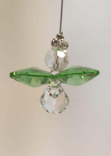 Light Green Lead Crystal Angel