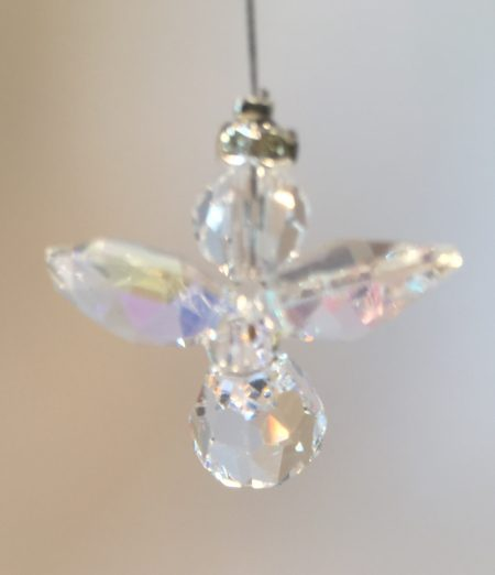 Clear (with AB Coating) Lead Crystal Angel