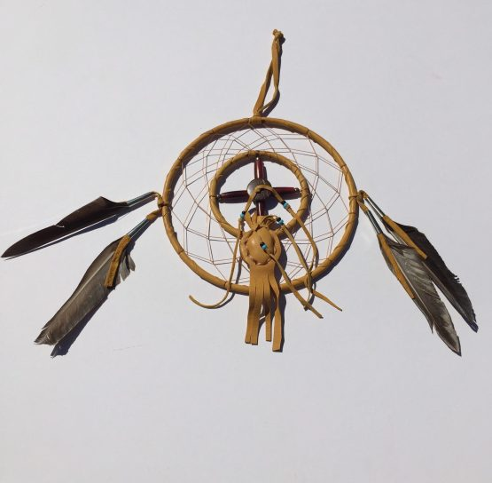 Large 6 inch Navajo Dream Catcher with Medicine Bag