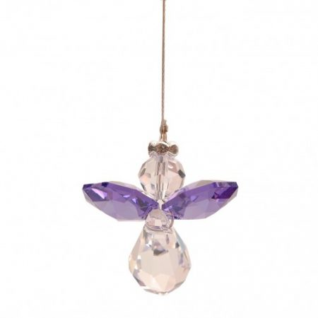 Purple Lead Crystal Angel