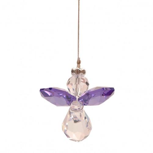 Purple Lead Crystal Angel