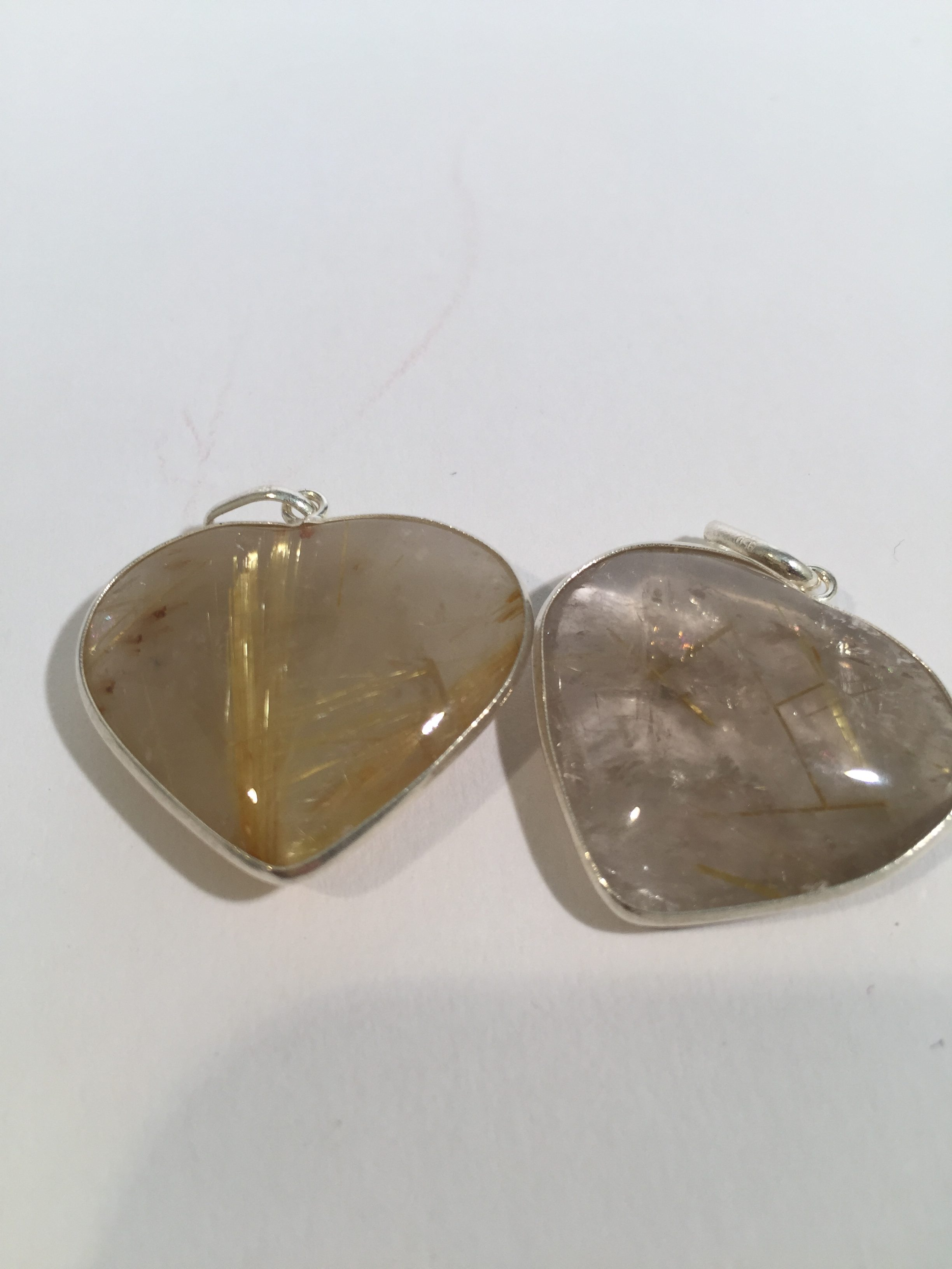 Gold rutilated quartz heart pendant in sterling silver setting 25 gold rutilated quartz heart pendant in sterling silver setting lightbox lightbox mozeypictures Images