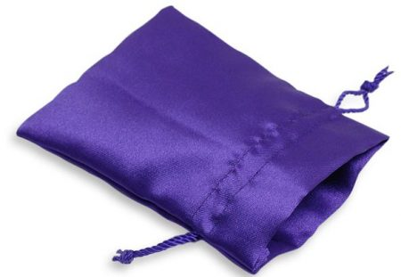 Purple Satin Drawstring Bag (Large)