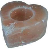 Himalayan Salt  Candle Holder - Med Heart