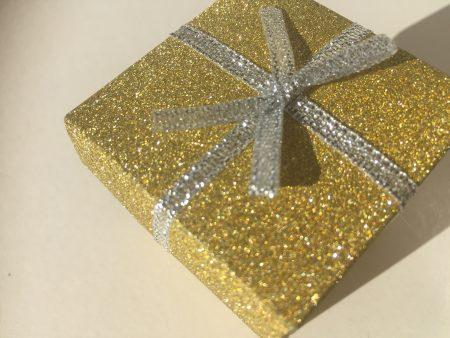 Gold Glitter Small Gift Box