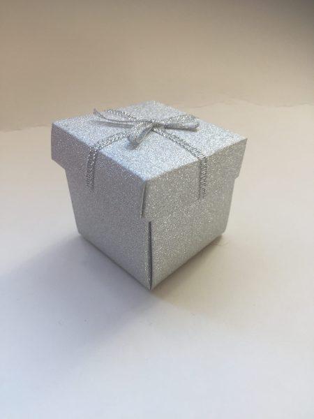 Silver Glitter Small Gift Box