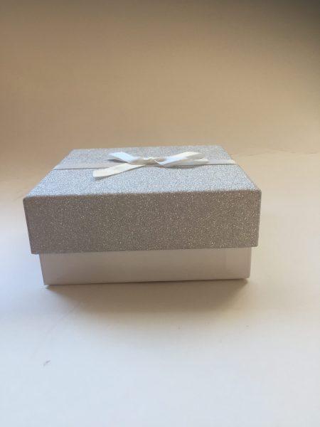 Silver Glitter Gift Box