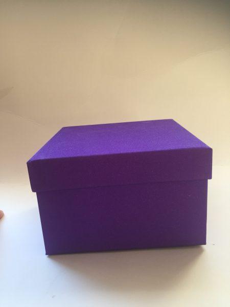 Purple Glitter Gift Box