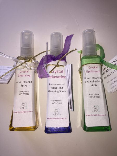 3 Crystal & Aromatherapy Charged Spray Pack.