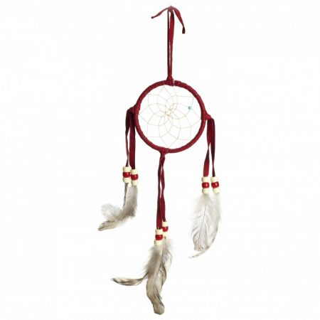 Navajo Red Dream Catcher - Small 3 Inch