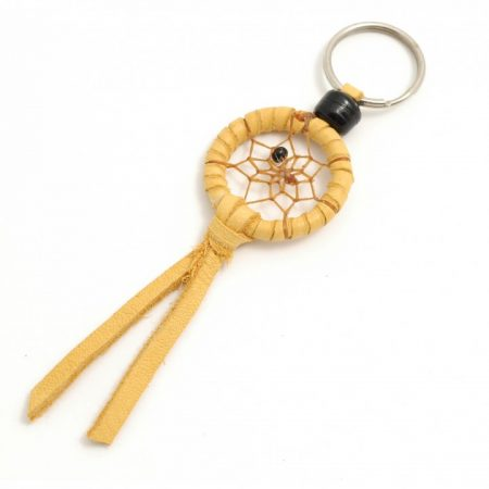 Navajo Dream Catcher Light Tan Keyring- 1 Inch