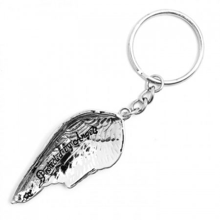 Protected by Angels. Angel Wing Keyring by AngelStar