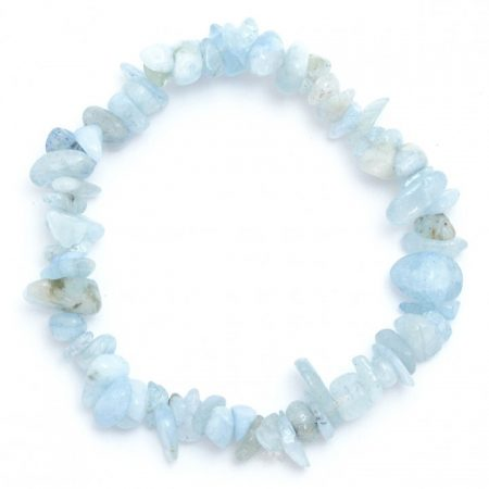 Aquamarine Crystal Chip Bracelet