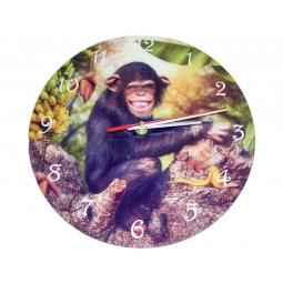 Chimp Clock-Cindy Grundsten Collection