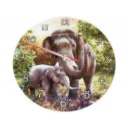 Elephant Clock-Cindy Grundsten Collection