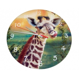 Giraffe Clock-Cindy Grundsten Collection
