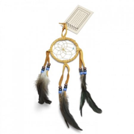 Navajo Light Tan Dream Catcher - Small 3 Inch