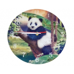 Panda Clock-Cindy Grundsten Collection