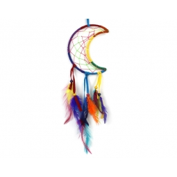 Rainbow Dream Catcher-Crescent Moon