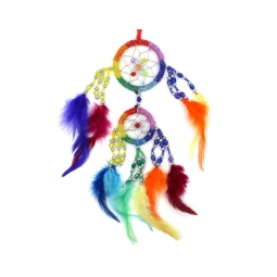 Rainbow Dream Catcher-Beaded