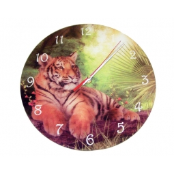 Tiger Clock-Cindy Grundsten Collection
