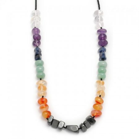 Chakra Crystal Elasticated Necklace 16-18 inches