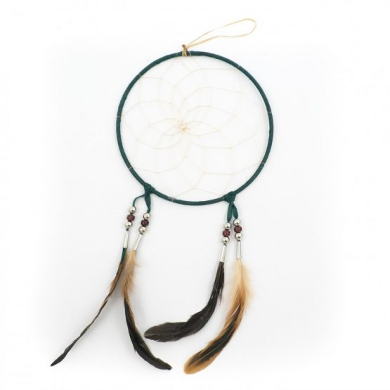 Large 7 inch Navajo Dream Catcher - Green