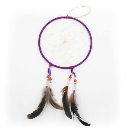 Large 7 inch Navajo Dream Catcher - Purple