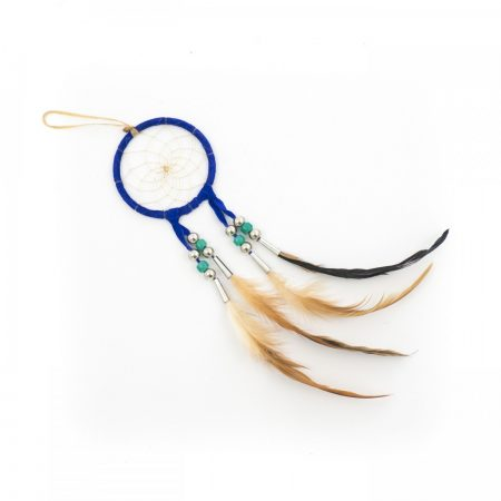 Navajo Dark Blue Dream Catcher - Small 3 Inch