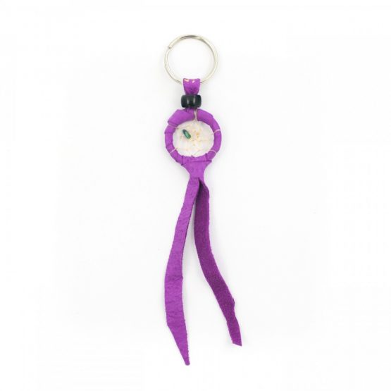 Navajo Dream Catcher Purple Keyring -1 Inch