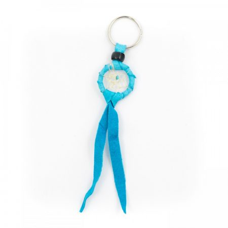 Navajo Dream Catcher Turquoise Keyring -1 Inch