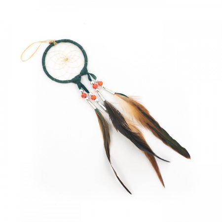 Navajo Green Dream Catcher -Small 3 Inch