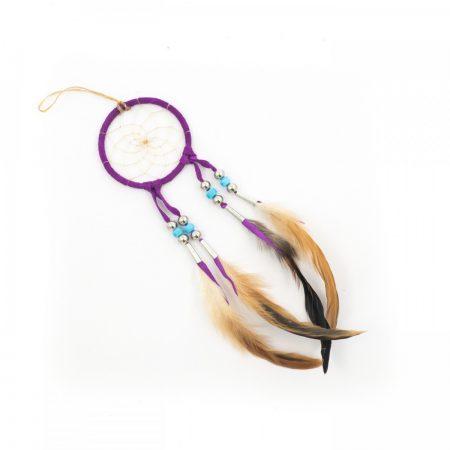 Navajo Purple Dream Catcher -Small 3 Inch