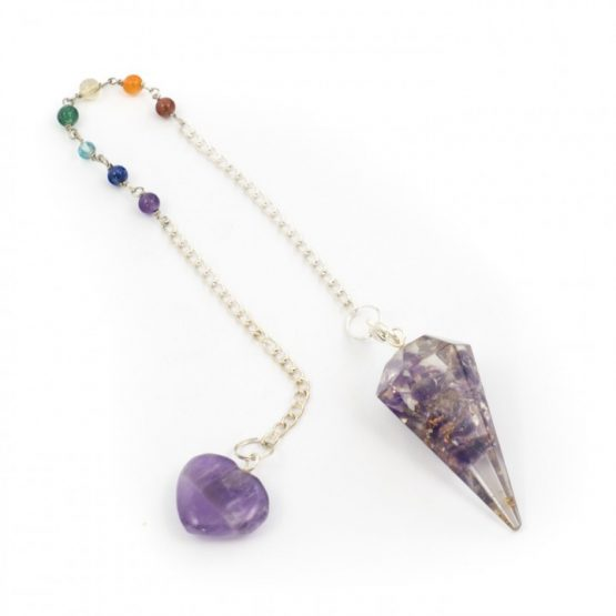 Amethyst - Orgone Pendulum with Chakra Chain