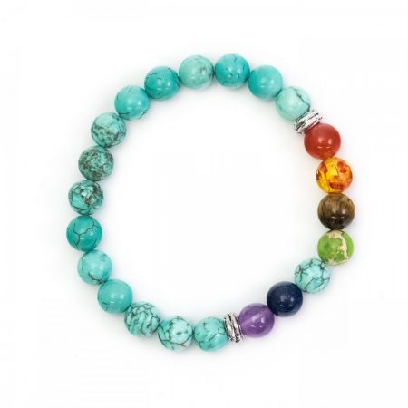 Chakra Bracelet (Reconstituted Turquoise)