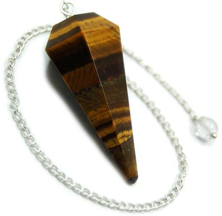 Golden Tigers Eye Crystal Pendulum