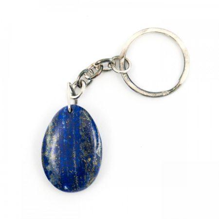 Lapis Lazuli Crystal Teardrop Keyring