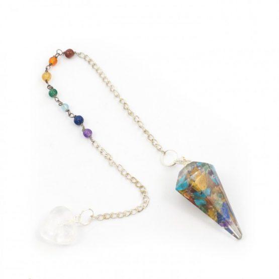 Rainbow - Orgone Pendulum with Chakra Chain