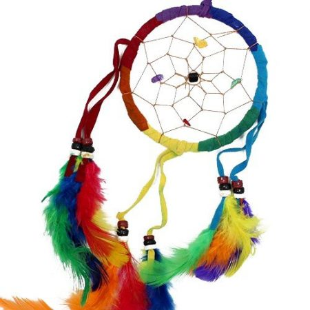 Rainbow Dream Catcher- Medium Round