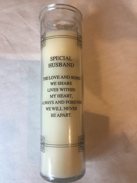 Special Husband Memorial Candle