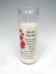 Special Grandad Memorial Candle