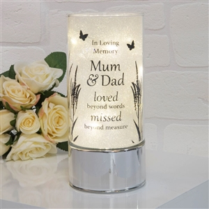 Thoughts Of You Light Tube Mum And Dad 20 cm