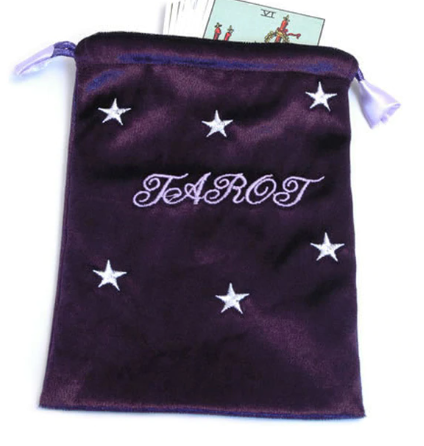 Deep Purple Tarot - Angel Cards Bag - Stars & Tarot