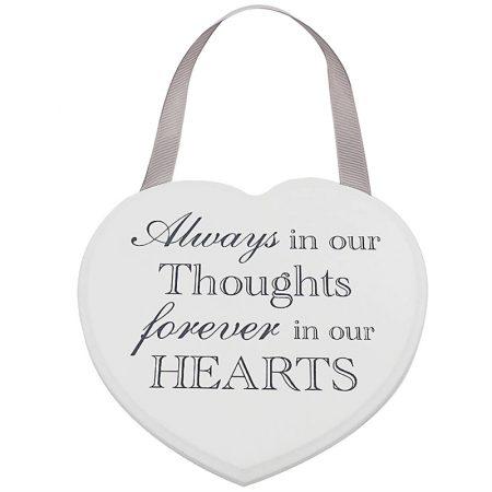 Heart Plaque Always Forever 18cm