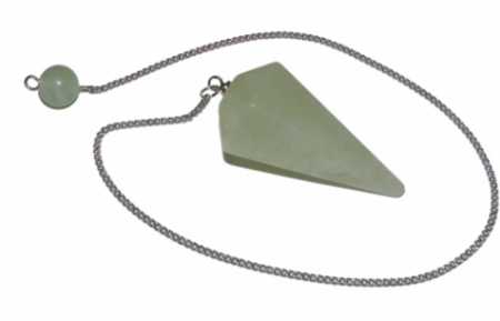 Jade Crystal Faceted Pendulum