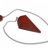 Red Jasper Crystal Faceted Pendulum