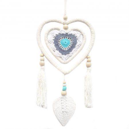 Medium Blue Multi Heart in Heart Dream Catcher